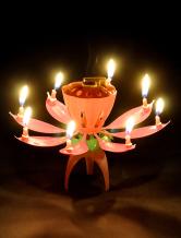 Birthday PVC Lotus Candle Wedding Favors