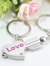 Heart and Arrow Metal 12-Piece Keychain for Wedding