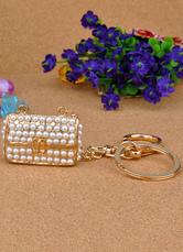 Pearls Bag Pattern Metal Wedding Keychain