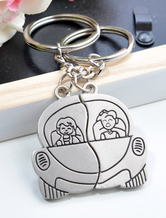 Draiving Couple Metal Keychain Set of 12 for Wedding
