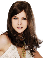 Anime Costumes AF-S2-444513 Quality Brown Straight Heat-resistant Fiber Long Lace Wig for Woman