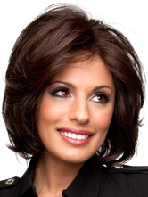 Anime Costumes AF-S2-444563 Brown Side Parting Medium Heat-resistant Fiber Womens Lace Wig