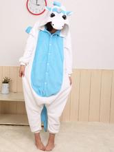 Kigurumi Pajama licorne единорог Onesie для взрослых двух тонов животных костюм Хэллоуин