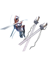 Anime Costumes AF-S2-445863 Attack on Titan 3-D Maneuver Gear Long Sword Cosplay Weapon
