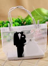 Bride&Groom Pearl Paper Engagement Favor Bags Set of 12
