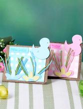 Papier carrée perle bébé canard Wedding Favor boîtes ensemble de 12