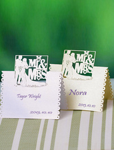 Mr & Mrs Style Specialty Paper Wedding Wine Glass Cards Set of 12