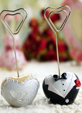 Classic Traditional Metal Sweetheart Wedding Place Cards One Couple
