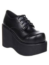 Negro mate Lolita Alta Plataforma Zapatos Encaje uN9oGZEFm