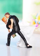 Casal clássico Figurine Topper de bolo para casamento