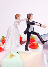 Classic Couple Figurine Wedding Cake Toppers for Funny