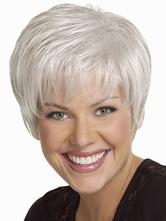 Моды белая сторона расставание-термостойкое волокно женщина короткий парик
