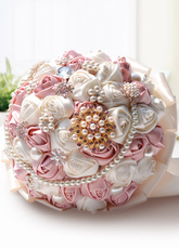 Fiori di raso di nozze bicolore fiori perle strass