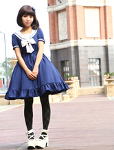 Sweet Lolita Dress Sailor Style Girl Asibuto Penta OP Lolita One Piece Dress