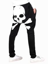 Calças diário crânio padrão algodão Cool harém masculino
