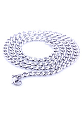 Silver Men's Chain Link Necklace Stainless Steel Necklace