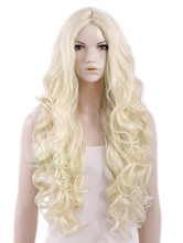 Anime Costumes AF-S2-464574 Blonde Curly Heat-resistant Fiber Cosplay Long Wig For Woman