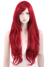 Anime Costumes AF-S2-464596 Crimson Red Side Parting Heat-resistant Fiber Sexy Women's Long Halloween wig