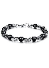 Interval White Stainless Steel Modern Bracelet for Men