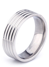Fashion Silver Stainless Steel Men's Ring