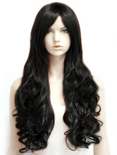 Anime Costumes AF-S2-470969 Chic Brownish Black Heat-resistant Fiber Centre Parting Long Wig