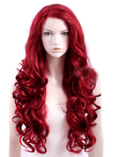 Anime Costumes AF-S2-471043 Sexy Burgundy Heat-resistant Fiber Curly Woman's Long Halloween wig
