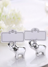 Elephant Resin Wedding Place Clips Set (8 For One, Paper Included)