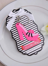 Non-personalized Metal High Heels Keychain Set For Wedding