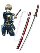 Anime Costumes AF-S2-475091 Gintama Okita Sougo Shinsengumi Cosplay Wooden Sword