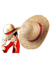 Anime Costumes AF-S2-475075 One Piece Luffy  Cosplay Straw Hat Monkey D Luffy Cosplay Straw Hat 2 Years Later