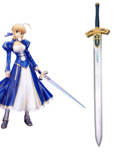 Anime Costumes AF-S2-475079 Fate stay night Saber Excalibur Cosplay Sword Wooden Weapons