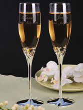 Personalized Wedding Toasting Flutes ( A Pair )