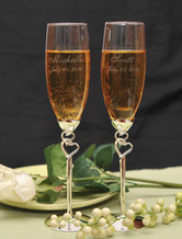 Toasting Flutes For Wedding ( A Pair )
