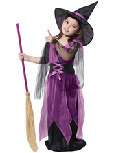 Anime Costumes AF-S2-479475 Purple Halloween Witch Costumes