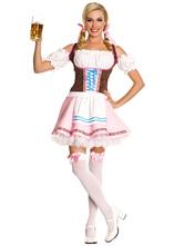 Anime Costumes AF-S2-480927 Halloween Light Pink Lederhosen Costume For Girls