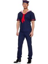 Anime Costumes AF-S2-480825 Halloween Men's Blue Sailor Costume