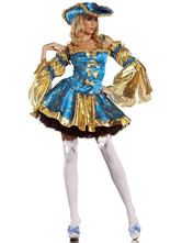 Anime Costumes AF-S2-481007 Blue Halloween Queen Costume
