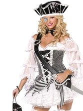 Anime Costumes AF-S2-480931 White Pirate Halloween Cosplay Costume Sexy Wrapped Bust Dress