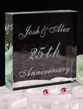 Personalized Crystal Cake Topper For Anniversary