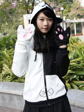Anime Costumes AF-S2-492055 Danganronpa Monokuma Anime Sweatshirt with Gloves Anime Hoodies