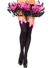 Anime Costumes AF-S2-492797 Halloween Black Bow Decor Stockings