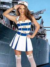 Anime Costumes AF-S2-492801 Halloween White Sailor Costume