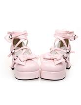 Lolitashow Bows Decor Lolita High Heels
