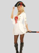 Anime Costumes AF-S2-495971 Halloween White Pirate Costume for Women