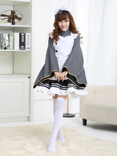 Anime Costumes AF-S2-503705 Halloween Women's French Maid Costume Bowknot Synthetic Dress