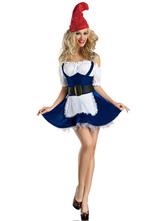 Anime Costumes AF-S2-503729 Halloween Blue Beer Girl Costume