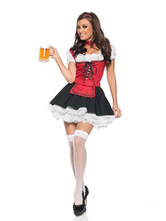 Anime Costumes AF-S2-506447 Halloween Beer Waitress Costume