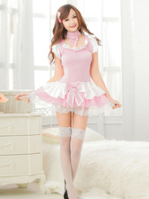 Anime Costumes AF-S2-506549 Halloween Pink French Maid Skirt Costume