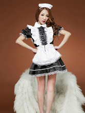 Anime Costumes AF-S2-506459 Halloween French Maid Costume Black Waitress Costume