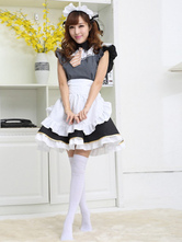 Anime Costumes AF-S2-506425 Halloween Black & White French Maid Costume